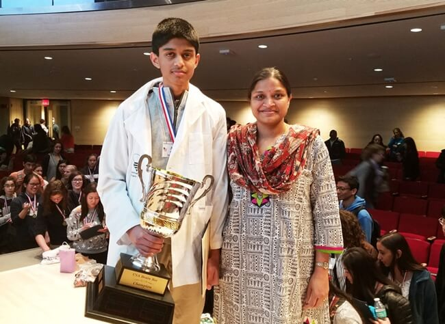 Indian American Schoolboy Akhil Kondepudi Wins USA National Brain Bee Championship 2018