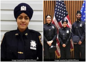 Gursoach Kaur NYC Police, first Sikh turbaned female police NYPD, New York Indians, Sikh Americans, Sikhs in USA