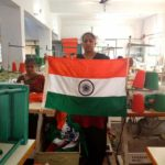 Bengeri Karnataka, Indian women at work, making of Tricolor Bengeri, Indian National Flag facts