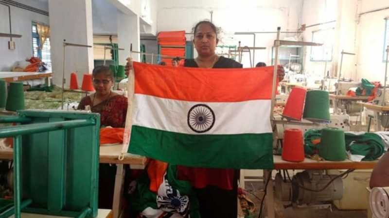 Women are behind the Making of Tricolor at India's Only Official National Flag Manufacturing Firm in Karnataka