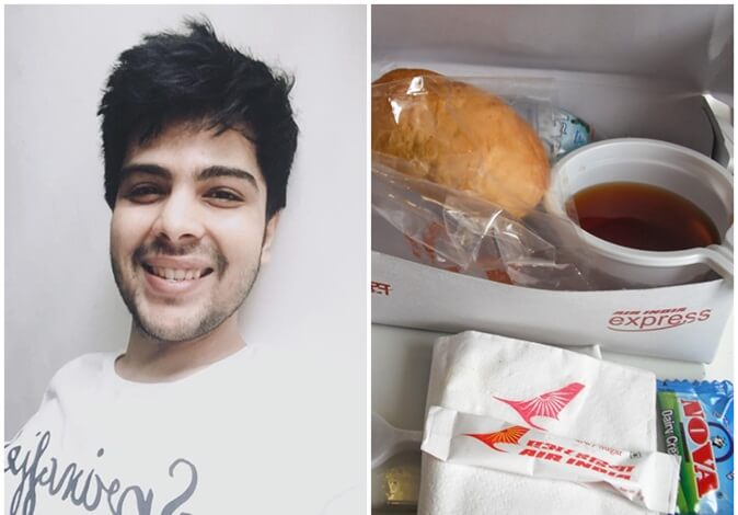 This Human of India from Mumbai Collected Leftover Food on Air India Flight to Feed the Hungry