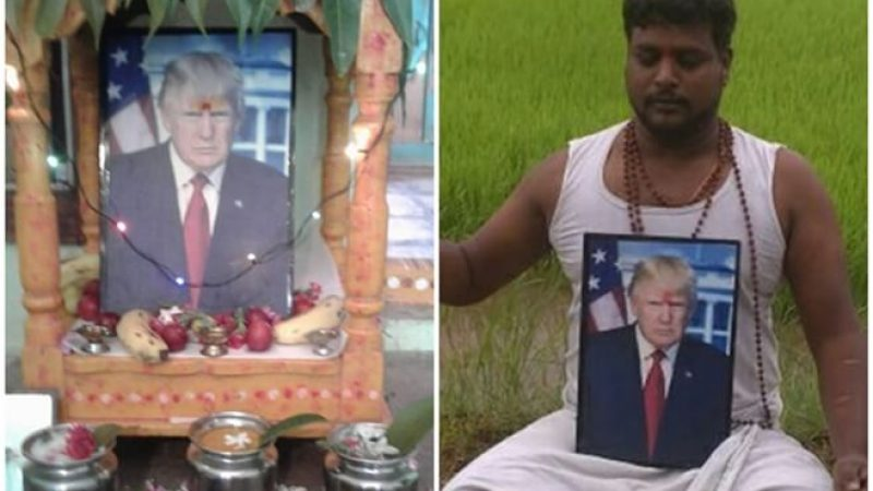 This Telangana Villager Revers President Donald Trump as God and Worships Him Daily. Know Why