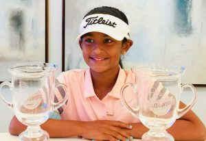 Karina Jadhav golf prodigy, international day of the girl child 2018, Indian american girls