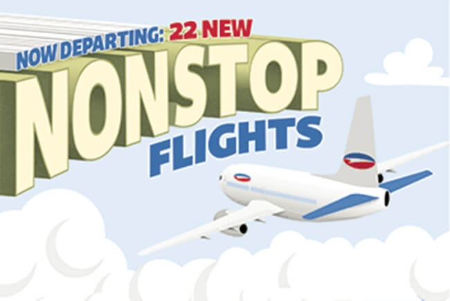 Details of Upcoming Nonstop Flights within and from USA in 2019