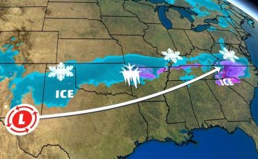 Winter Storm Diego Alert: Heavy Rain, Snow, Ice Accrual from Southern Plains to Southeast USA
