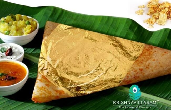 gold dosa chennai, gold dosa hyderabad, Indian dosa varieties, most expensive dosa
