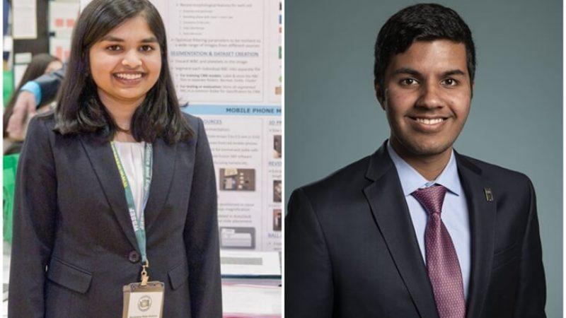 Two Indian American Teens among Top Ten Winners of 2019 Regeneron Science Talent Search
