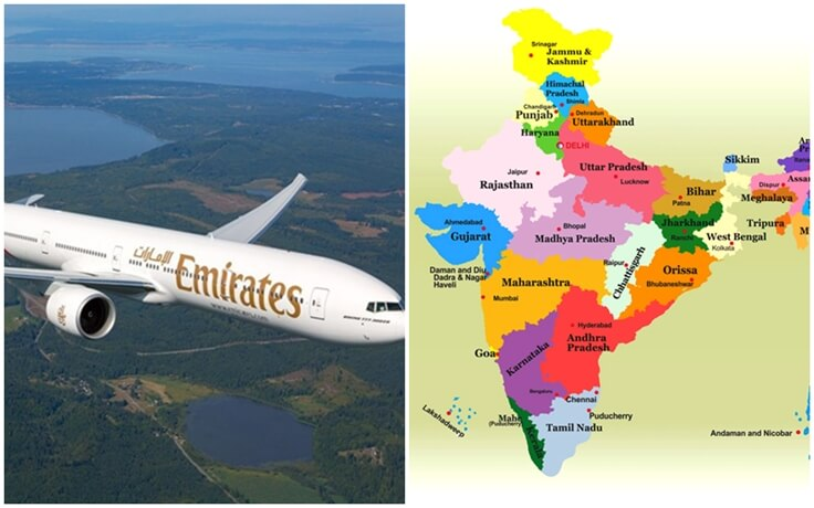 Emirates SpiceJet codeshare partnership, Emirates flights to India from USA, SpiceJet network India, cheap flights from US to India