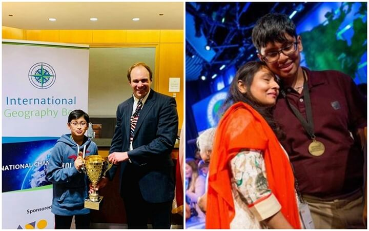 Samvrit Rao Virginia, Karan Menon Edison NJ, International Geography Bee 2019 US champions, young Indian Americans