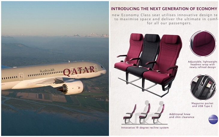 What are Unique Features of Qatar Airways New Economy Class: Seating and Inflight Dining?