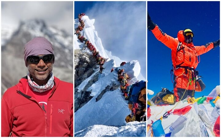 Gurinder Ricky Singh Mt Everest, Michigan Rakesh Patel mountaineer, Mount everest overcrowding