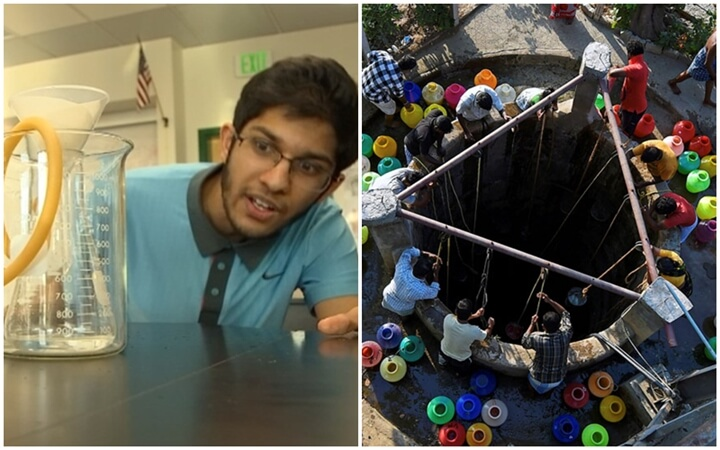 Indian American Boy's Low-cost Method to Make Seawater Drinkable may Solve India's Water Crisis