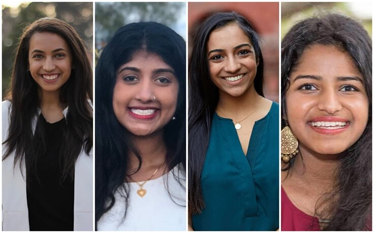 Four Promising Indian American Girls are Selected as WLP Scholars for Internship in US Congress Offices
