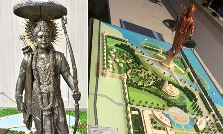 Ayodhya Ram statue costs, world's tallest Lord Ram statue, Uttar Pradesh Lord Ram statue height