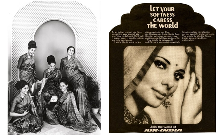 Air India hostesses 1970s, golden age of air travel, Air India good old days