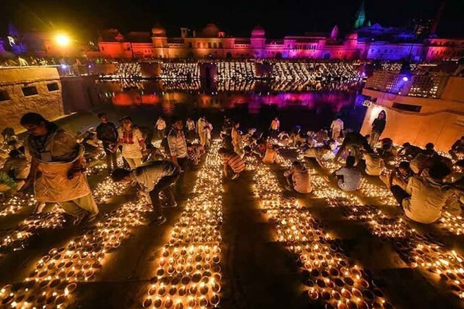 Ayodhya's deepotsav 2019, India diwali 2019, India in guinness book of world records