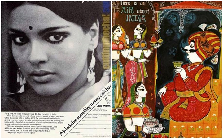 air india old ads, air india zeenat aman ads, Air India hostesses