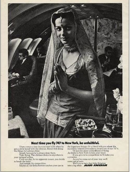 Air India advertisements, Air India in old days, air india hostesses