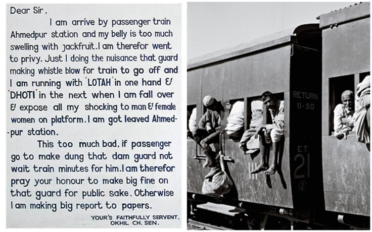 An Indian's Hilarious Letter in Broken English Helped Get Toilets on Trains in British India