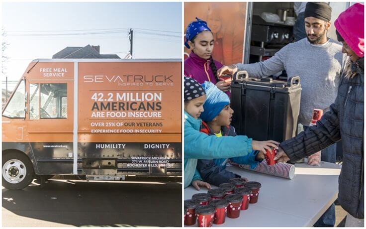 SevaTruck: A Sikh American's Langar on Wheels Cooks and Serves Fresh Meals to the Needy for Free