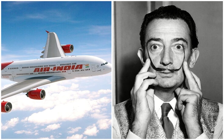 Air India stories, Air India Salvador Dali, Air India good old days
