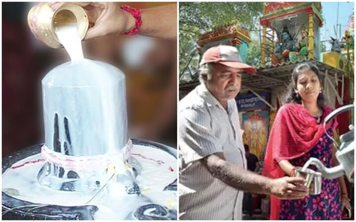 This Shiva Temple in India Gives Buttermilk Prasadam in Return of the Milk Offered to the Deity