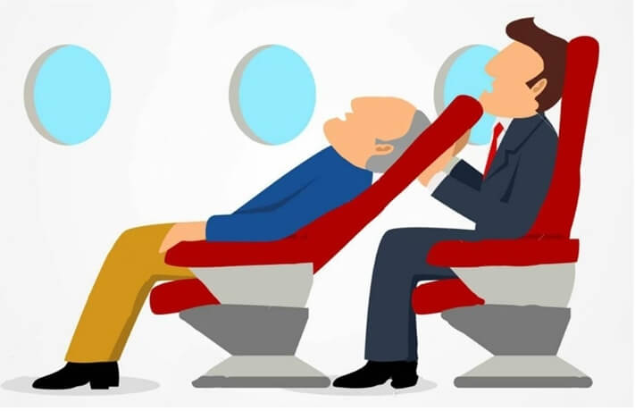 Air travel etiquette, reclining seats on planes, etiquette of flying