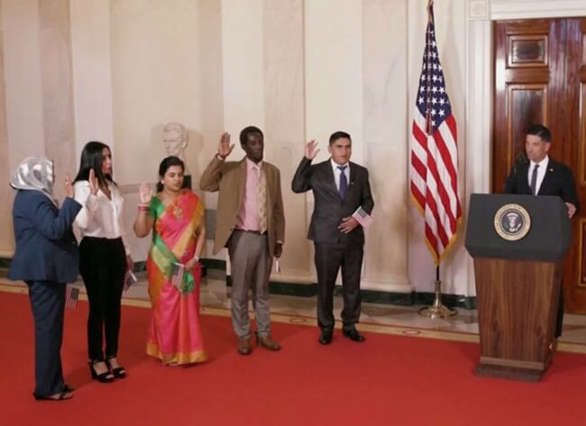 Indian IT Professional Sudha Sundari Narayanan is Sworn-in as US Citizen in Rare White House Ceremony