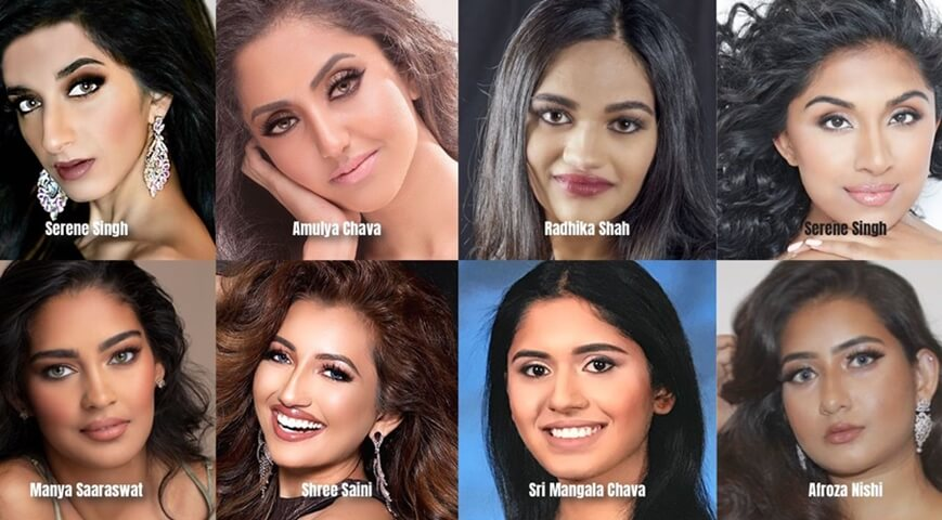 Miss World America 2020 contestants, Indian-origin women Miss World America 2020