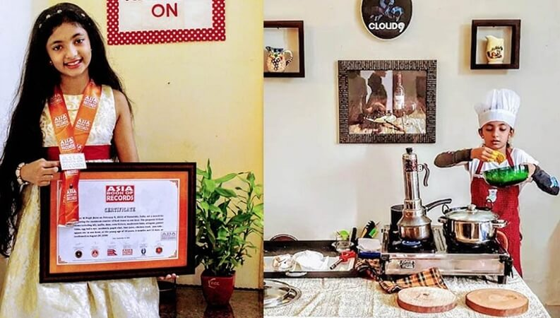 10-year-old Saanvi Prajit Makes it to Asian Book of Records by Cooking 33 Dishes in Just One Hour