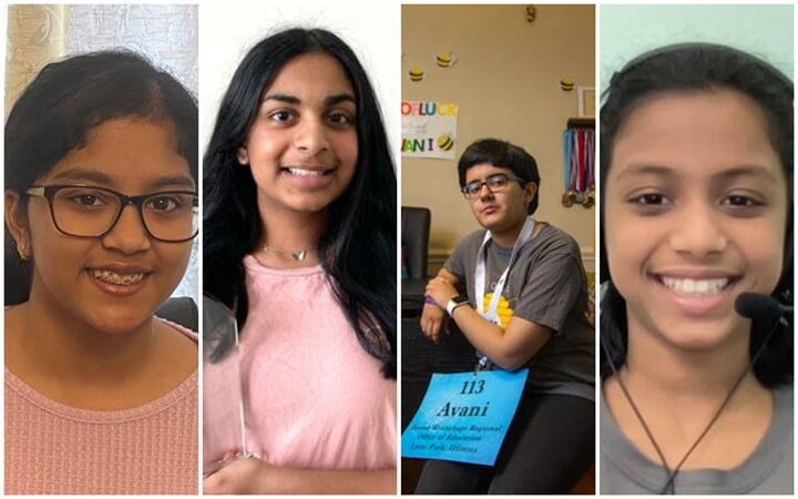 Among 11 Finalists, 9 Indian American Kids are a Dominant Force in Scripps National Spelling Bee 2021